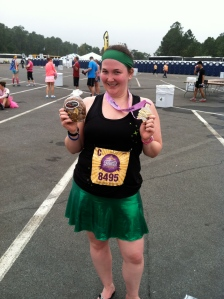 Me & My Medal (and my post race breakfast cookie)