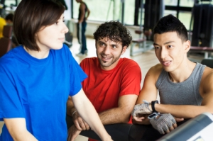 Firends Talking at the gym