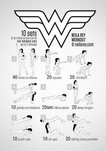 This is Neila Rey's Wonder Woman Workout! Please visit her site at http://neilarey.com/ and support her project!