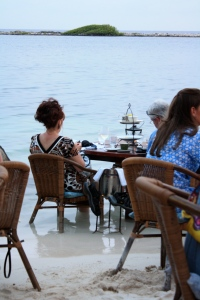"Patrons enjoying the ""In Ocean"" dining at The Flying Fishbone"