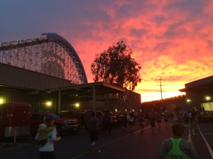 Sunrise over California Screamin' Roller Coaster