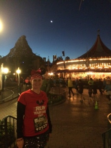 SK2 in front of King Arthur's Carousel with the Matterhorn in the background