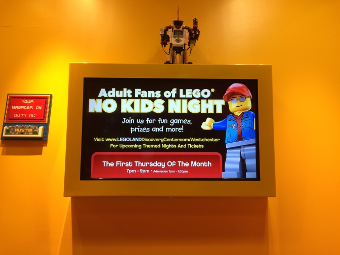 Brick by Brick – Adult Fans of Lego Night at the Legoland Discovery Center Westchester
