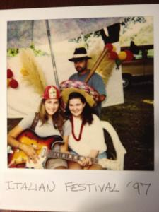 Doc, The Wizard, and I at the Italian Cultural Festival in 1997